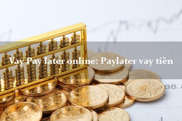 Vay Pay later online: Paylater vay tiền nợ xấu vẫn vay được